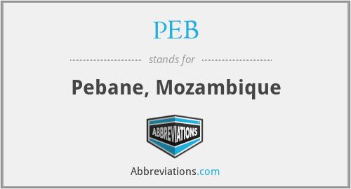 PEB - Pebane, Mozambique