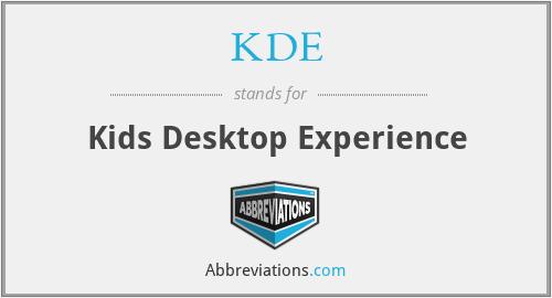 KDE - Kids Desktop Experience
