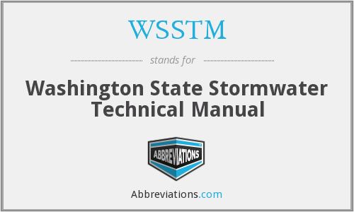 WSSTM - Washington State Stormwater Technical Manual