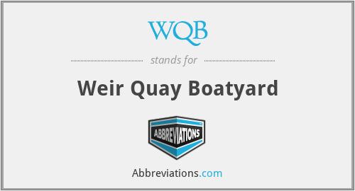 WQB - Weir Quay Boatyard
