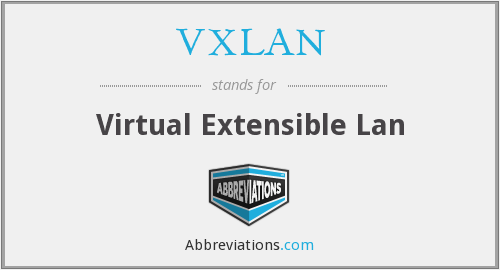 What does VXLAN stand for?