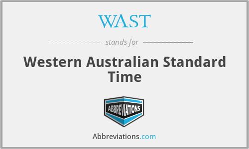 WAST - Western Australian Standard Time