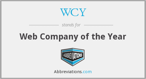 WCY - Web Company of the Year