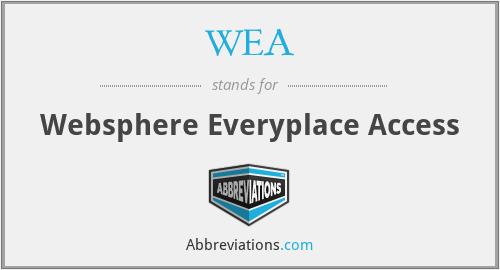 WEA - Websphere Everyplace Access