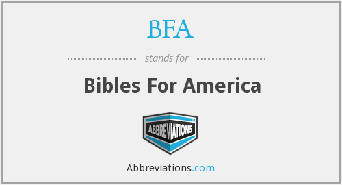 BFA - Bibles For America