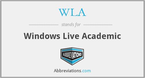 WLA - Windows Live Academic