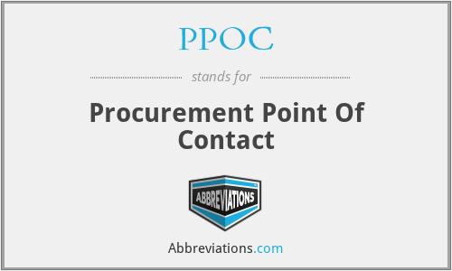PPOC - Procurement Point Of Contact
