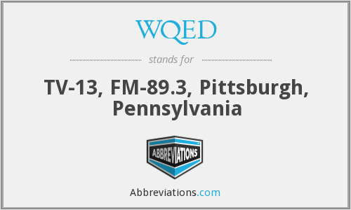 What does WQED stand for?