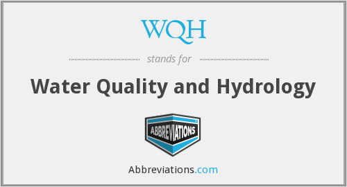 WQH - Water Quality and Hydrology