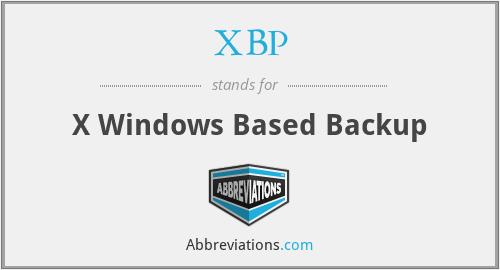 XBP - X Windows Based Backup