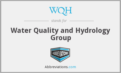 WQH - Water Quality and Hydrology Group