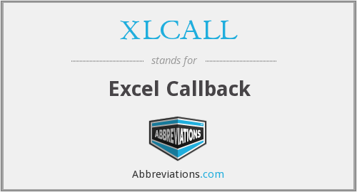 XLCALL - Excel Callback