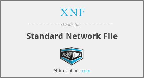 XNF - Standard Network File