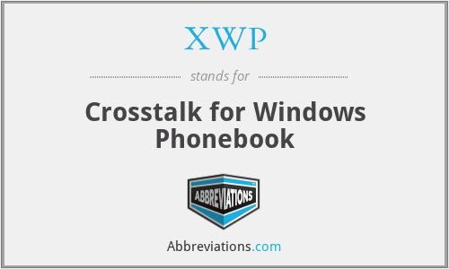 XWP - Crosstalk for Windows Phonebook