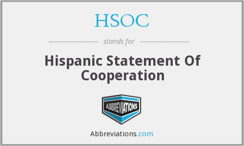 HSOC - Hispanic Statement Of Cooperation