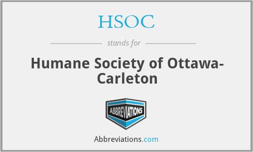 HSOC - Humane Society of Ottawa- Carleton