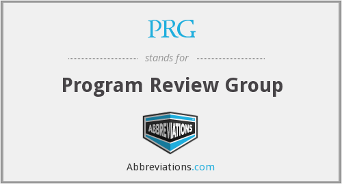 PRG - Program Review Group