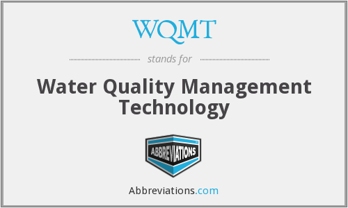WQMT - Water Quality Management Technology