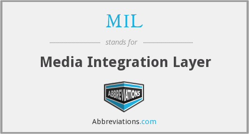 MIL - Media Integration Layer