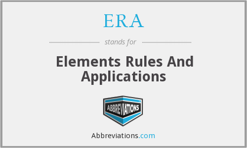 ERA - Elements Rules And Applications