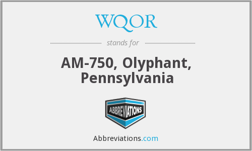 What does WQOR stand for?