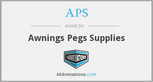 APS - Awnings Pegs Supplies