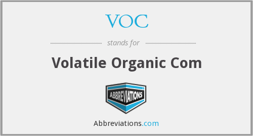 VOC - Volatile Organic Com