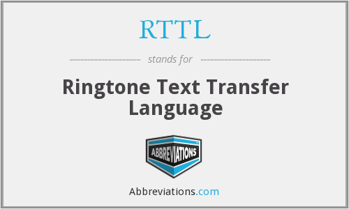RTTL - Ringtone Text Transfer Language