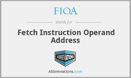 FIOA - Fetch Instruction Operand Address