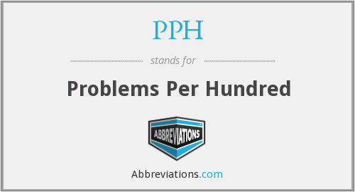 PPH - Problems Per Hundred