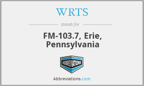WRTS - FM-103.7, Erie, Pennsylvania