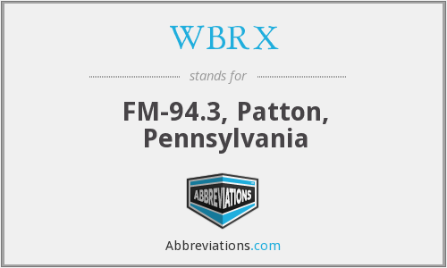 WBRX - FM-94.3, Patton, Pennsylvania