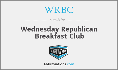 WRBC - Wednesday Republican Breakfast Club