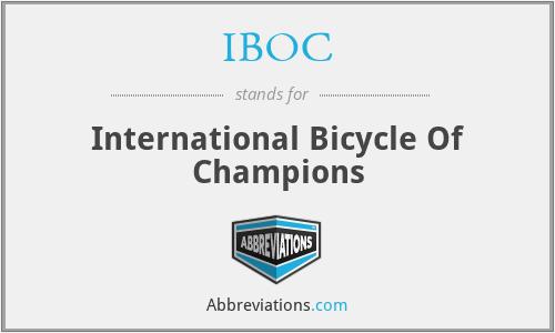 IBOC - International Bicycle Of Champions