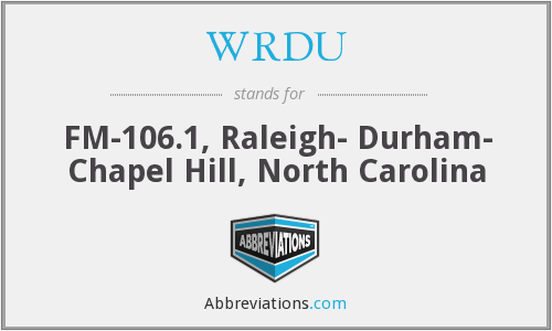 What does WRDU stand for?