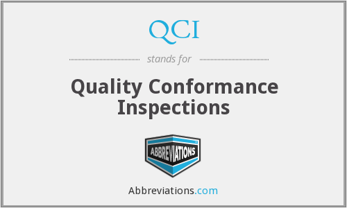 QCI - Quality Conformance Inspections