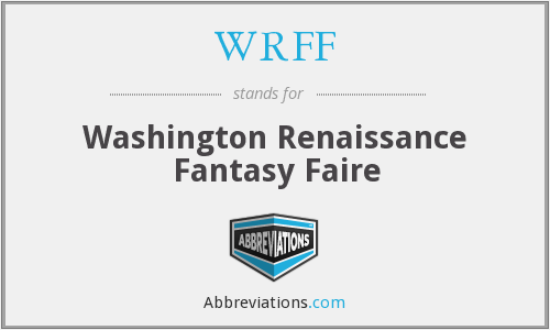 WRFF - Washington Renaissance Fantasy Faire
