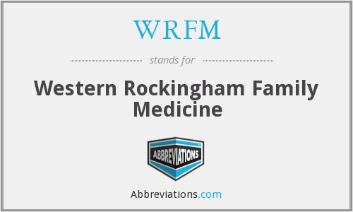 WRFM - Western Rockingham Family Medicine