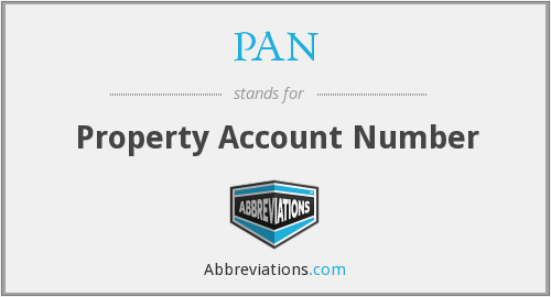 PAN - Property Account Number