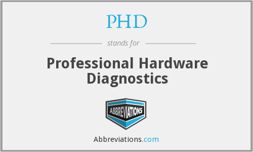 PHD - Professional Hardware Diagnostics