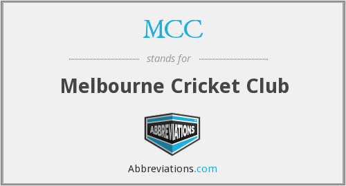 MCC - Melbourne Cricket Club