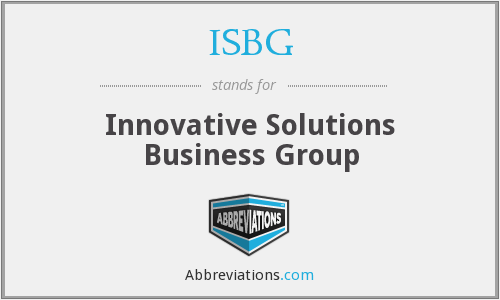 ISBG - Innovative Solutions Business Group