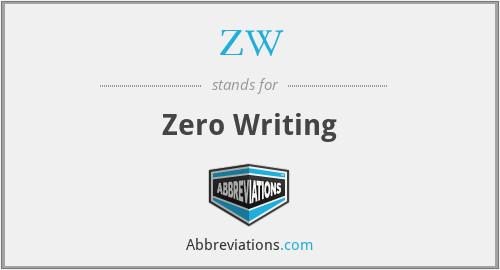 ZW - Zero Writing