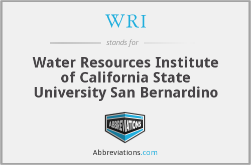 WRI - Water Resources Institute of California State University San Bernardino