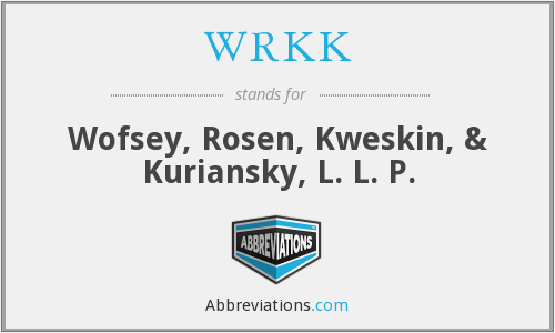 What does WRKK stand for?