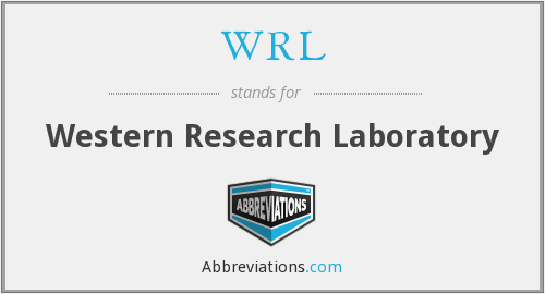 What does WRL stand for?