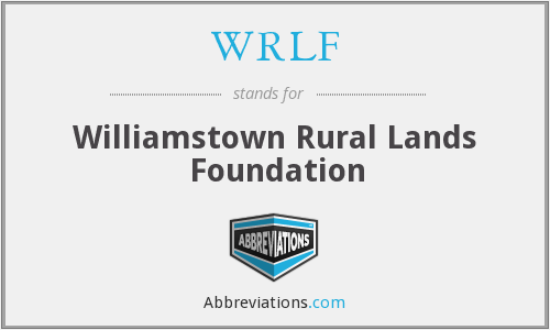 WRLF - Williamstown Rural Lands Foundation