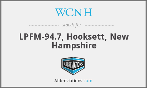 WCNH - LPFM-94.7, Hooksett, New Hampshire