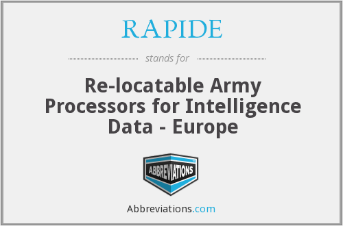 What does RAPIDE stand for?