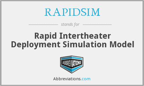 What does RAPIDSIM stand for?